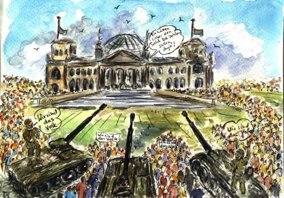 """In Ägypten rufen sie """" Wir sind das Volk"""" in Deutschland..."""" Wir waren das Volk""""..."""