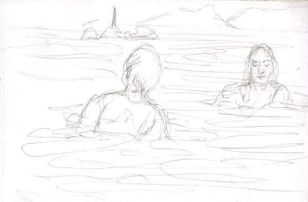 Ein Wassermann und eine Nixe