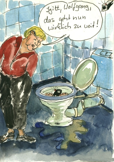 Igitt, Wolfgang, das geht zu weit