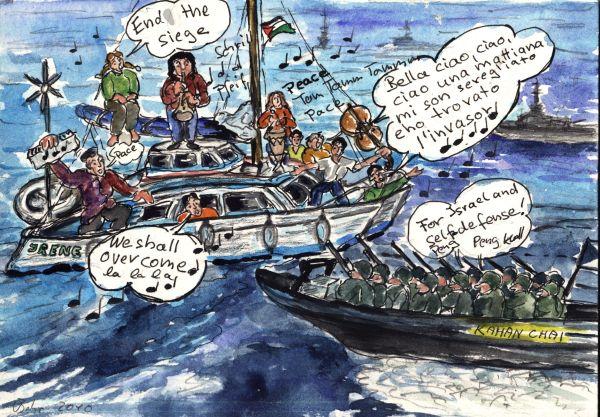 Irene, ein Boot voller bewaffneter jüdischer Terroristen greift Israel an