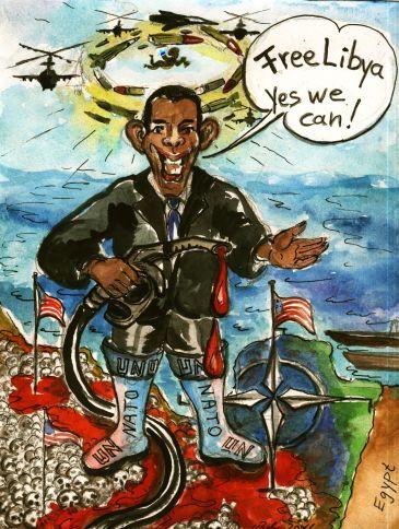 """Libya, yes we can...Alles was zwei Beine hat, Gaddafi-loyal ist, wird nun von Obama für """"Vogelfrei"""" erklärt...BOMB,Bomb,Bomb copyleft"""