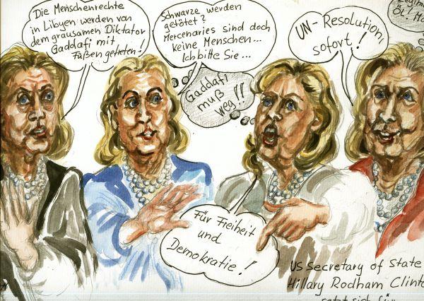 Hillary und Menschenrechte