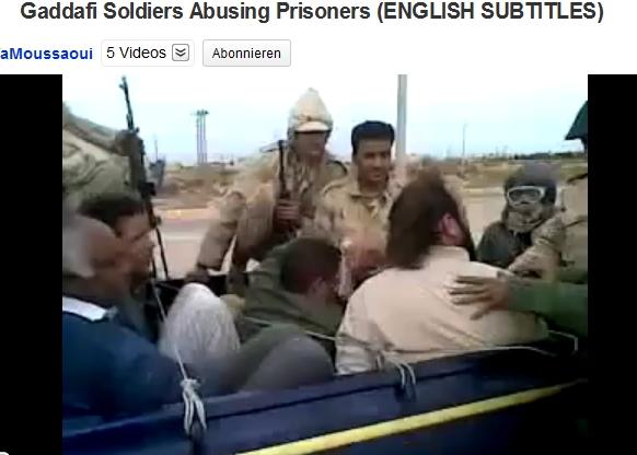 Drei sogenannte Gaddafi-Soldaten