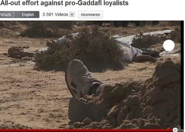 Leichen von Einwohnern und Flüchtlingen? Warum wird ausgeblendet und die Zahl der Opfer verschwiegen? Weil es Bezahljournalisten im Auftrag der NATO sind, da spielt die Wahrheit keine Rolle.