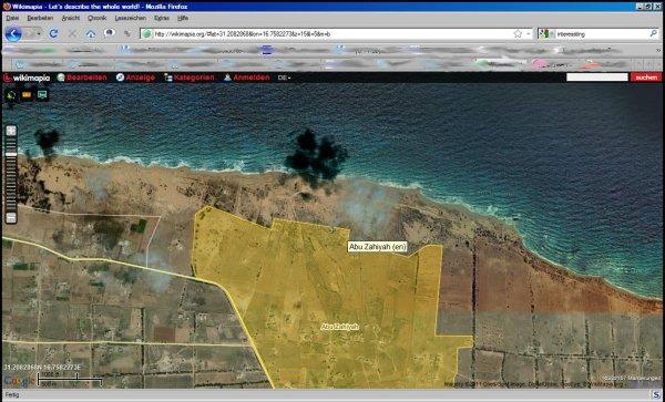 Karte östlich von Sirte