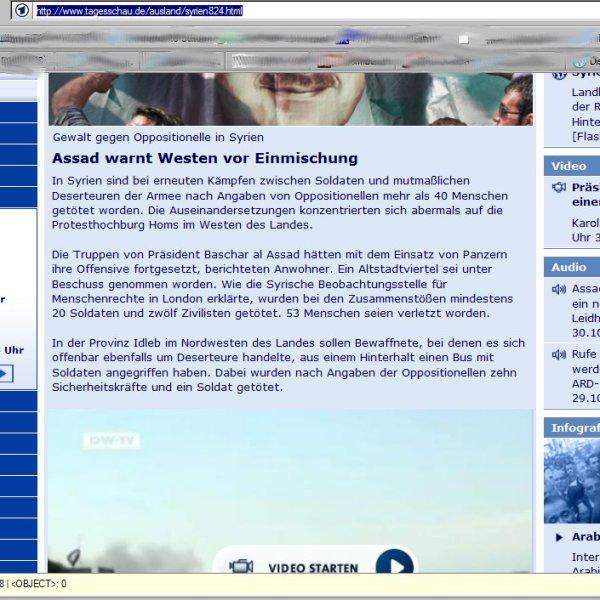 Tagesschau, Video nun von DW BND