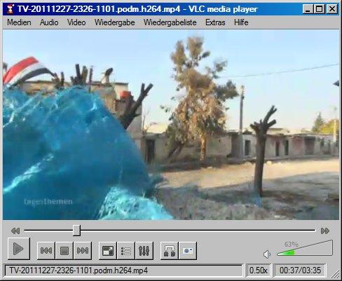 Tagesschau, heimlich in Homs