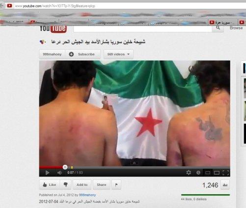 """Gefoltert: """"Shabihas"""" vor Oppositionsterror- Fahne-ziemlich eindeutig!"""