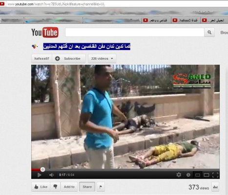 Der Propagandist der FSA-Milizen erzählt Lügengeschichten