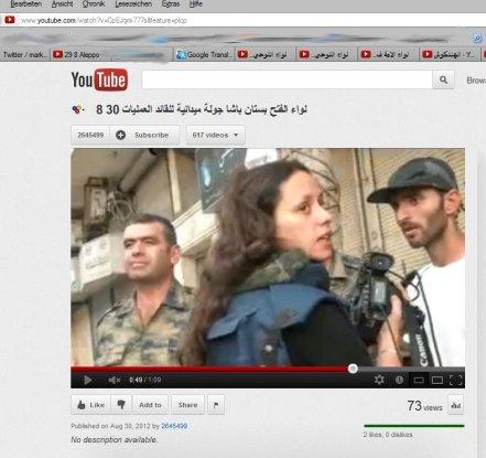 Caroline Poiron, die Lebensgefährtin vom verstorbenen Gilles Jaquier nun in Aleppo auf Eroberungszügen eingebettet in die Kommandostrukturen der Terroristen...