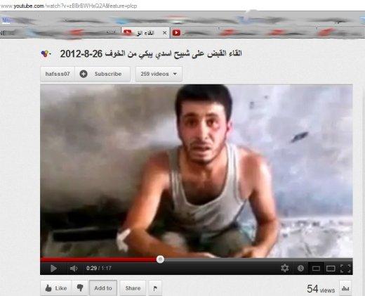 Schabiha,laut den Medien, ich sehe einen Mensch in Todesangst in den Händen von Terroristen