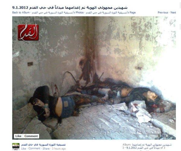 Leichen bei Kadam, gefilmt und fotografiert von den  FSA-Banditen