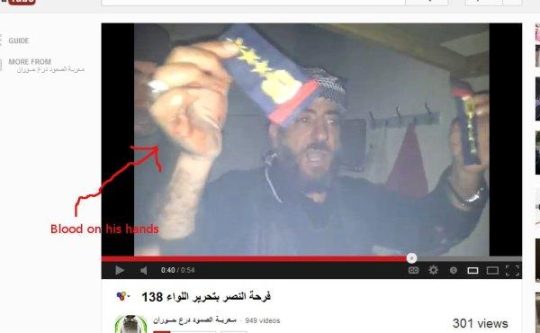 Blut an den Händen, hat er höchstpersönlich den Brigadekommandeur des syrischen Regiments umgebracht?