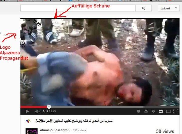 Schnittwunden, Tritte, schlagen und peitschen.Menschenverachtende Deraa-Militzen-Methoden