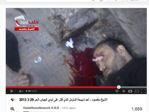 """Faschisten dringen in Sheik Masoud ein, entführen Leute, schlagen sie zusammen und ermorden sie eiskalt. Die """"Rebellen"""" und """"Aktivisten"""" über die unsere Medien so lieblich nett berichten"""