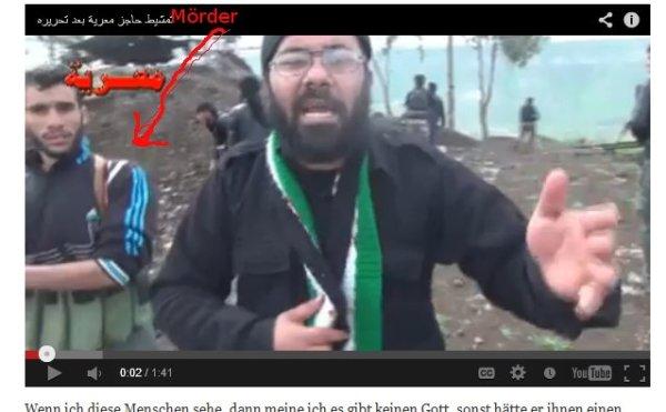 Kriegsverbrecher, der Mann mit den blauen Streifen auf der Jacke war aktiv  beteiligt