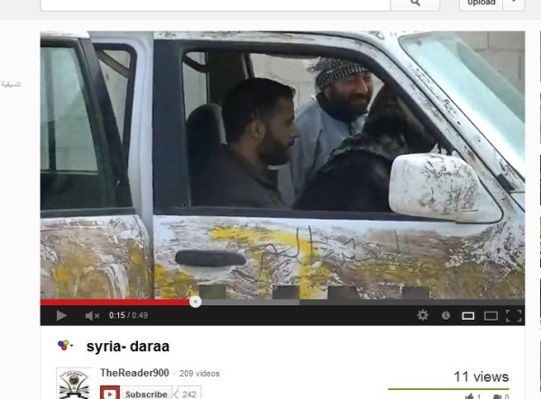 UN-Fahrzeug im Einsatz der Terroristen
