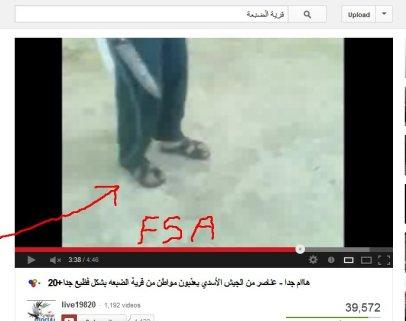 Schlappen an den Füßen deuten auf FSA-Milizen hin. Waren die Mörder von den Omar al-Farouk-Brigaden?