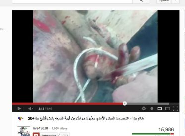 Scharia, wer schneiden den menschen in Syrien Gliedmaße ab und verstümmelt Lebendige sowie Tote!