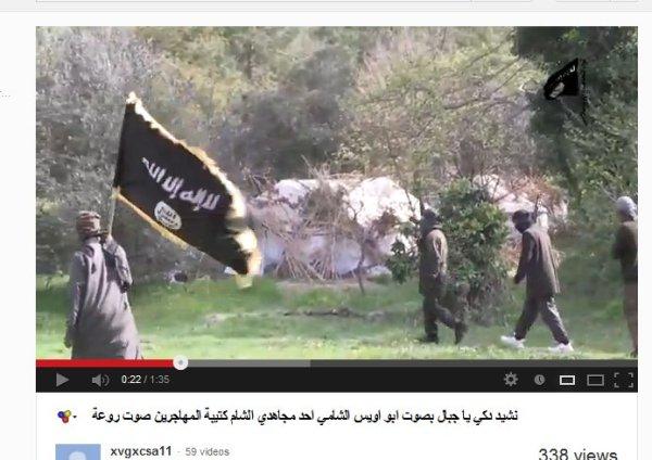 Trainingslager an der türkisch-syrischen Grenze. Anhänger von Al-Kaida-Sheikh Ibrahim Rubaish, Ex-Guantanamo-Häftling.
