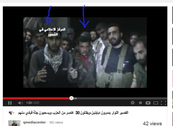 """Der Propagandist vom Al-Kaida-Propagandasender Aljaschmiera zusammen mit dem Kannibalen von """"Heimlich in Homs"""""""
