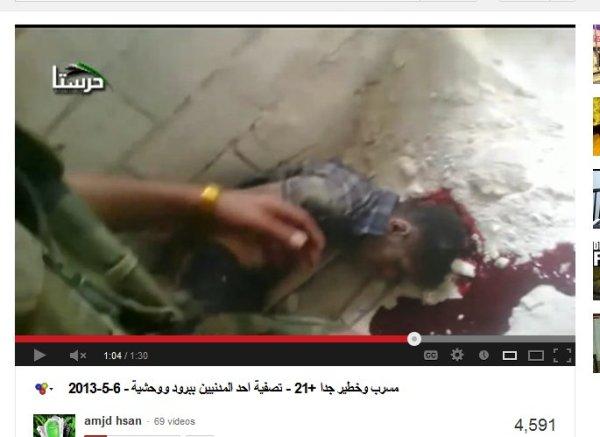 Ermordet und vielfach gefilmt von den FSA-Terroristen