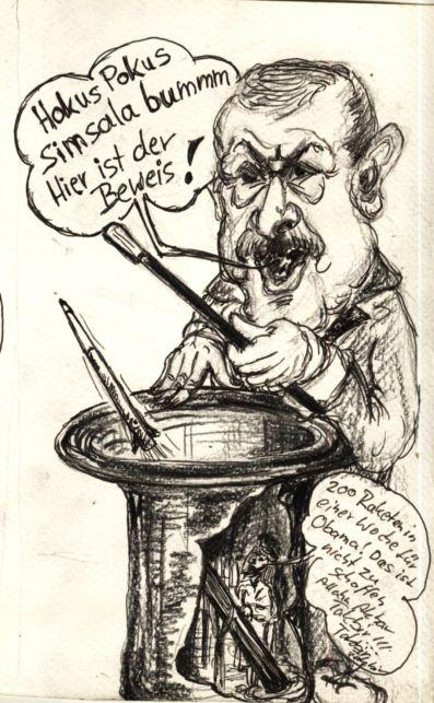 Großmaul Erdogan mit Handlangern