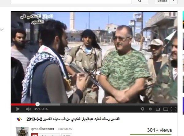 Hadi Abdallah, Oberst Akidi zusammen mit einem Kommandeur der Nusra-Front in Qusair