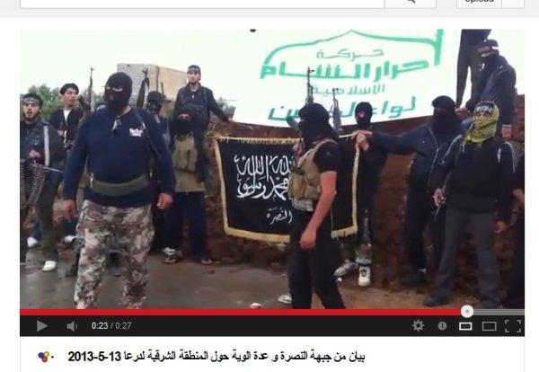 Ahrar Al Sham und die Nusra-Front mit einem ihrer Prinzen. Mörder allesamt.