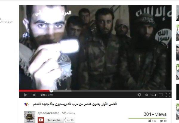 """Propaganda für """"Aufständische""""  mit Terroristenbeflaggung"""