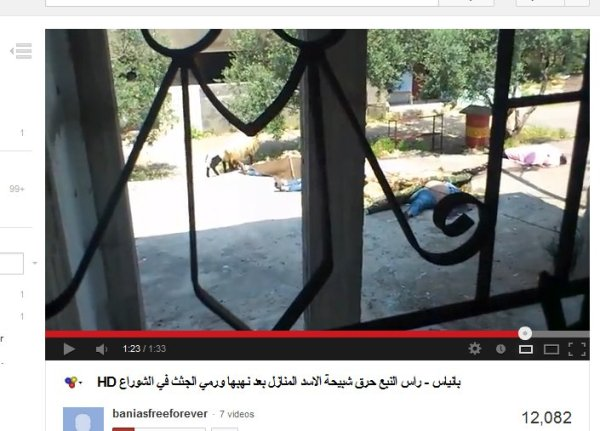Nun liegen die Leichen welche bei facebook in einem video zu sehen waren, bei einem teilweise ausgebrannten Haus