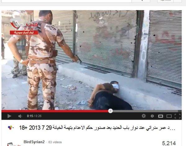 Auch die ARD-Journallie war dort. ob sie den Mörder kennengelernt haben? Auch HRW schreibt diese banden regelmäßig schön, egal ob FSA, Jabahat al Nusra oder andere kriminelle Mordbanden. Sie haben schon Übung durch Libyen...