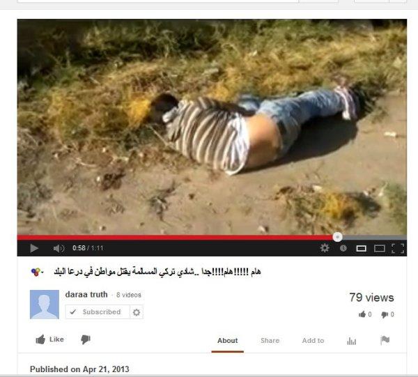 Gleiche Mörderbande, beide Mordvideos vermutlich vom selben Tag, im Abstand veröffentlicht