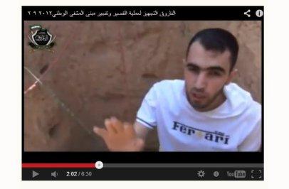 Hadi Abdallak macht die propaganda für die farouk-Terroristen vor der sprengung des National Krankenhaus in Qusair Anfang September 2012