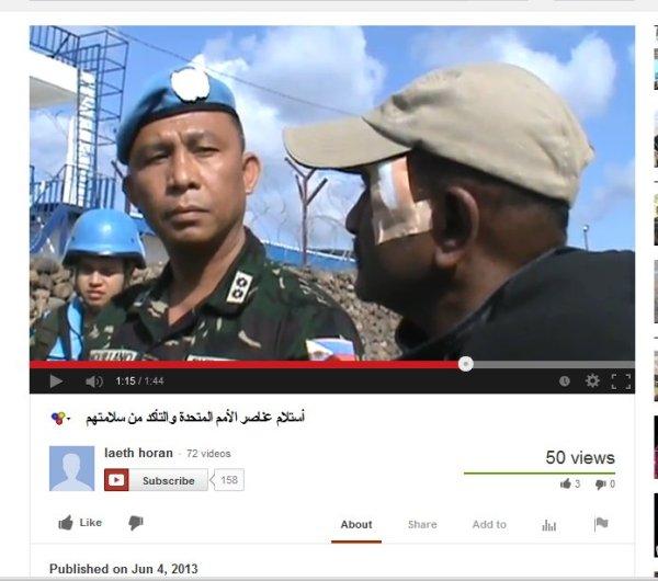 Verletzter UN-Beobachter versichert er wäre in besten Händen