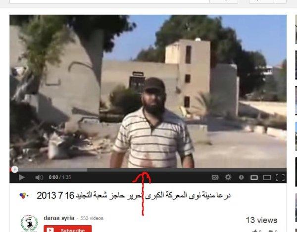 Ein mörderischer Propagandist der Daraa-Brigaden.
