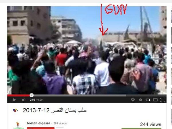 """Warum werden die Bewaffneten editiert welche die """"friedlichen """" Demonstranten anführten?"""