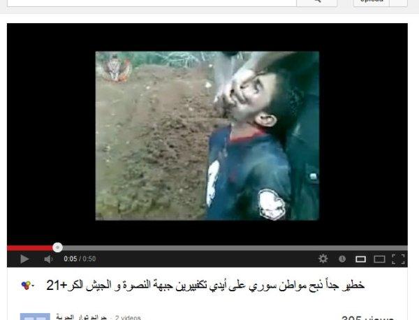 """Die """" Freunde Syriens"""" beim Schächten. Bei Tieren schreien die Tierschützer, bei Menschen bleiben sie stumm!"""