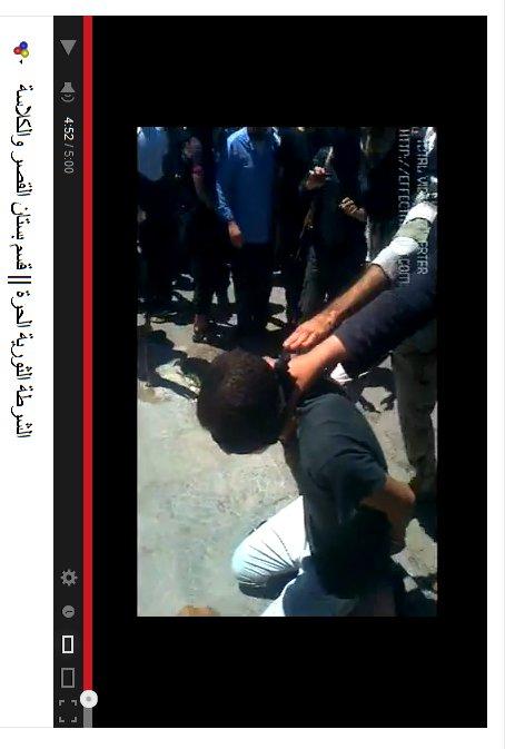Öffentlich ermordent, verurteilt duch ein FSA-Scharia-Gericht.
