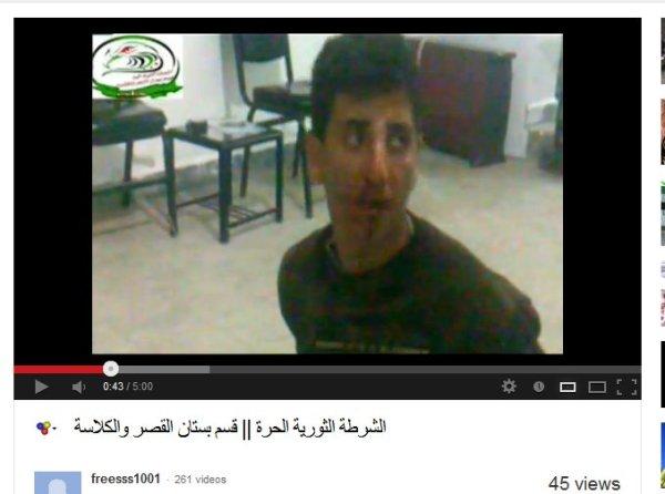 FSA-Polizei und Gericht zugleich. Das Ofer der Schariawillkür sitzt gefesselt auf dem Boden. Die Richter und späteren Henker werden hier nicht gezeigt