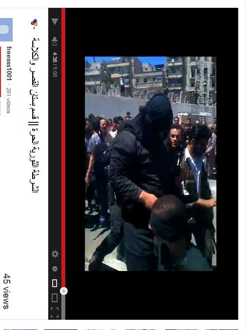Laut Video der Mann , welcher aus Masharqa sein soll.