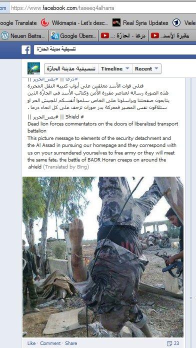 Die Daraa-Banden, trainiert, bewaffnet ,US geführt. Obamas Todesschwadrone