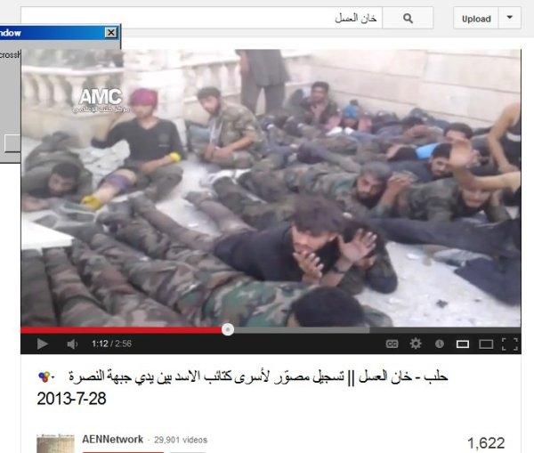 Sich hatten sich ergeben und wurden kaltblütig ermordet und von unseren Medien verschwiegen.