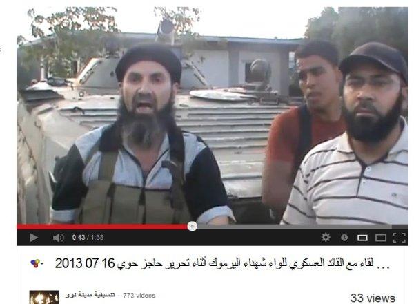 Der Cef der Yarmouk-Verbrecher, bkannt auch schon von den grausamen Verbrechen an dem 38 Regiment.