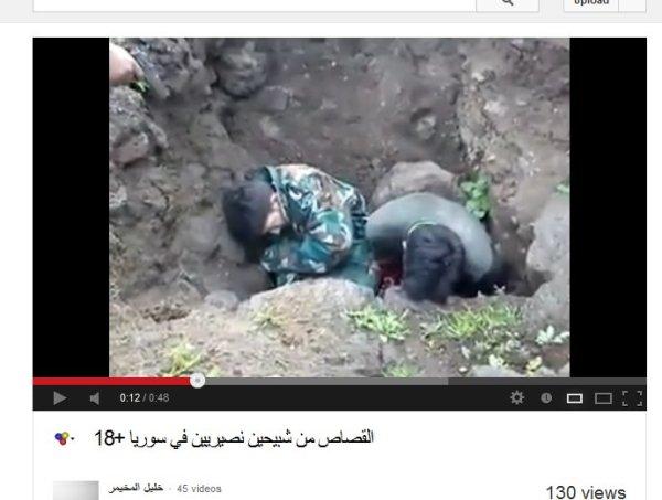 Nun wird der zweite Mensch von den westlich schöngeschriebenen Propaganda-Rebellen erschossen.