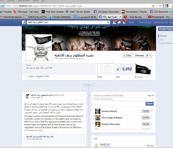 Die terroristenseite welche den link auf das Video mit den Geisel als erstes hochgeladen hatte