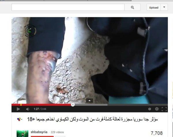 Wieviele tage später haben sie diesen Arm gefilmt von Menschen welche bereits am 22.08. 2013 in ein tiefes Loch geworfen wurden