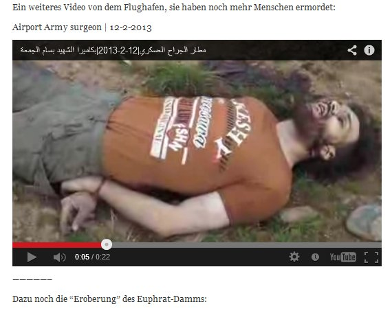 """Gesselte ermordet, die Banden vom """"Euphrat-Damm""""."""