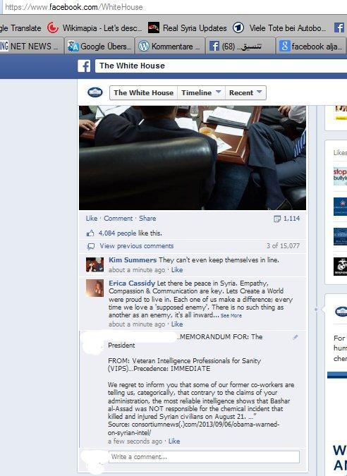 Protestaktion, postet den Link auf die ehemaligen Geheimdienst und Militärarbeiter. Obama soll wissen dass er die Welt nicht für dumm verkaufen kann!!