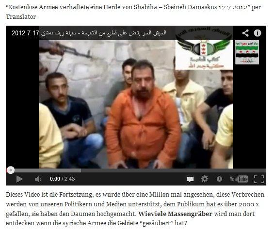 Viele Geiseln in Mörderhand n Kerrys gemäßigte FSA-Kräfte, die Menschenrechtler schlechthin. Siehe nächsten Screenshot
